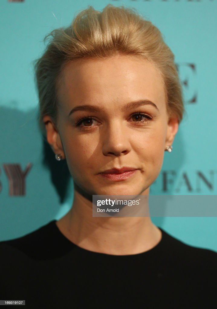 <a gi-track='captionPersonalityLinkClicked' href=/galleries/search?phrase=Carey+Mulligan&family=editorial&specificpeople=2262681 ng-click='$event.stopPropagation()'>Carey Mulligan</a> arrives at the Tiffany & Co Great Gatsby dinner at Rockpool on May 23, 2013 in Sydney, Australia.