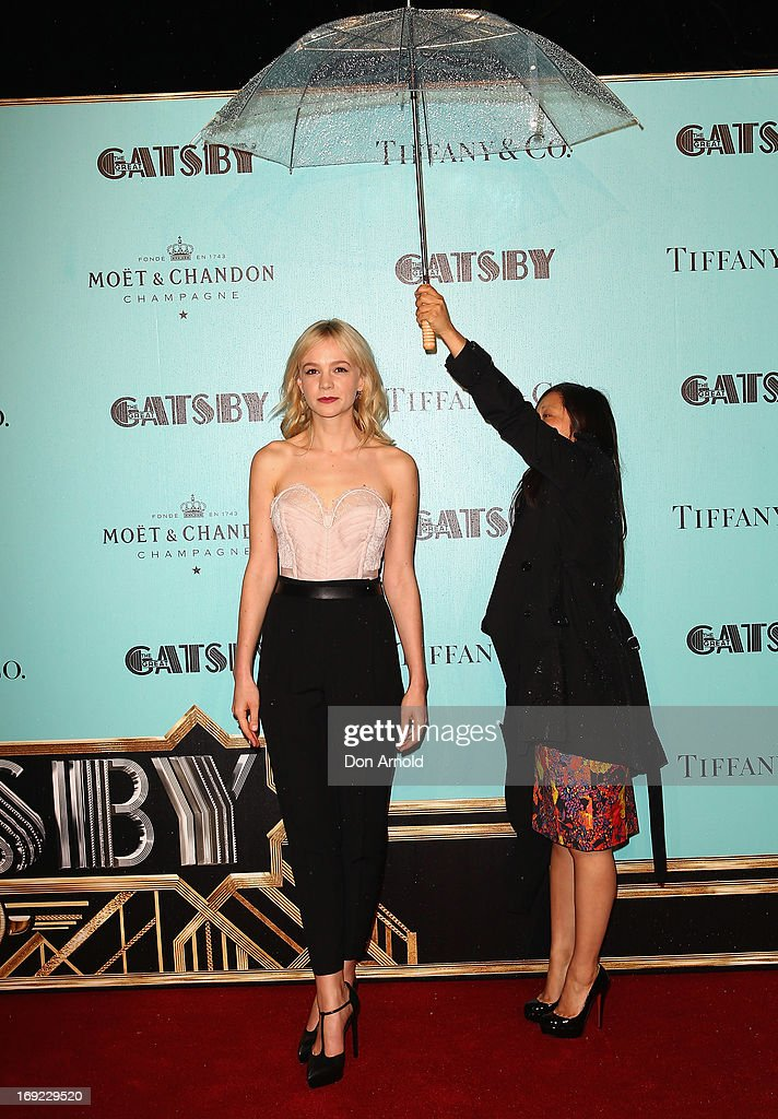 <a gi-track='captionPersonalityLinkClicked' href=/galleries/search?phrase=Carey+Mulligan&family=editorial&specificpeople=2262681 ng-click='$event.stopPropagation()'>Carey Mulligan</a> arrives for the Sydney premiere of 'The Great Gatsby' at The Entertainment Quarter on May 22, 2013 in Sydney, Australia.
