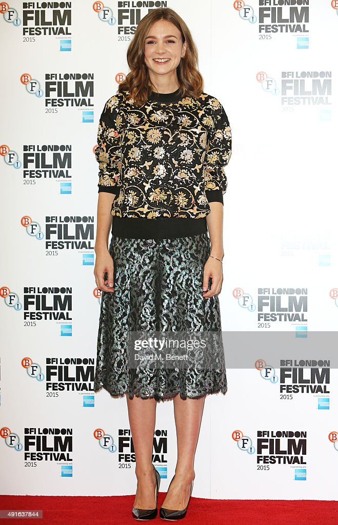 Carey Mulligan attends a photocall for 'Suffragette' during the BFI London Film Festival at The Lanesborough Hotel on October 7 2015 in London England