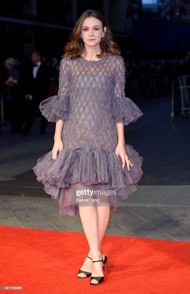 <a gi-track='captionPersonalityLinkClicked' href=/galleries/search?phrase=Carey+Mulligan&family=editorial&specificpeople=2262681 ng-click='$event.stopPropagation()'>Carey Mulligan</a> attends a screening of 'Suffragette' on the opening night of the BFI London Film Festival at Odeon Leicester Square on October 7, 2015 in London, England.