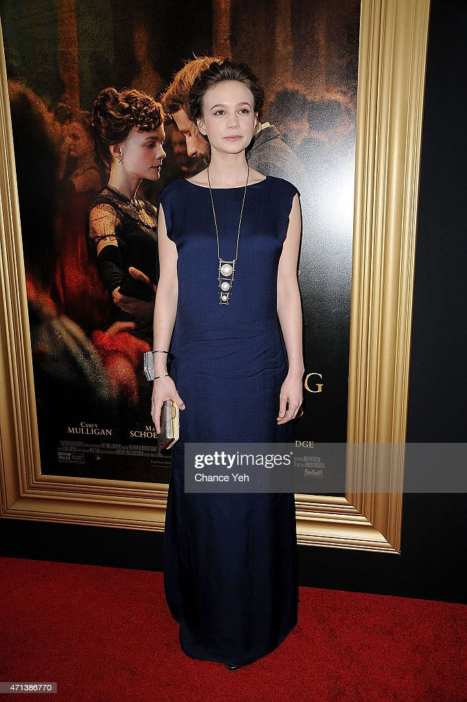 Carey Mulligan attends 'Far From The Madding Crowd' New York special screening at The Paris Theatre on April 27 2015 in New York City