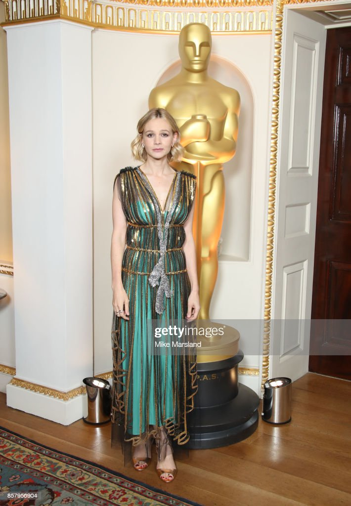 Carey Mulligan attends The Academy's New Member's Party at Spencer House on October 5, 2017 in London, England.