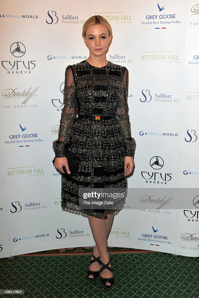 Carey Mulligan attends the ASMALLWORLD Gala Dinner for Alzheimer Society at the Gstaad Palace Hotel on December 15, 2012 in Gstaad, Switzerland.