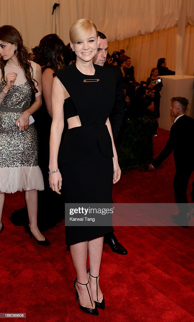 Carey Mulligan attends the Costume Institute Gala for the 'PUNK: Chaos to Couture' exhibition at the Metropolitan Museum of Art on May 6, 2013 in New York City.
