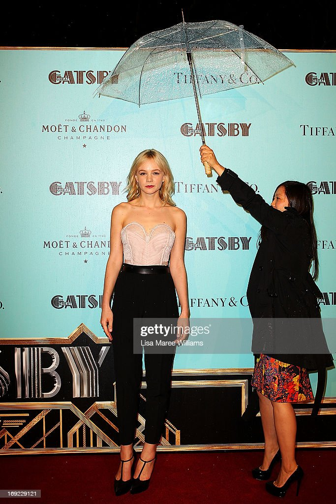 <a gi-track='captionPersonalityLinkClicked' href=/galleries/search?phrase=Carey+Mulligan&family=editorial&specificpeople=2262681 ng-click='$event.stopPropagation()'>Carey Mulligan</a> attends the 'Great Gatsby' Australian premiere at Moore Park on May 22, 2013 in Sydney, Australia.