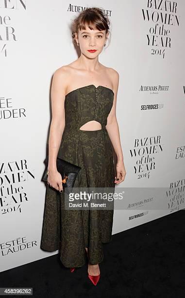 Carey Mulligan attends the Harper's Bazaar Women Of The Year awards 2014 at Claridge's Hotel on November 4 2014 in London England