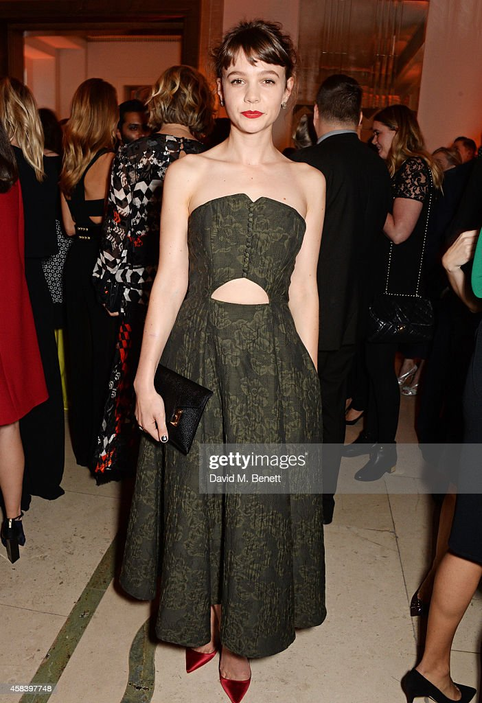 <a gi-track='captionPersonalityLinkClicked' href=/galleries/search?phrase=Carey+Mulligan&family=editorial&specificpeople=2262681 ng-click='$event.stopPropagation()'>Carey Mulligan</a> attends the Harper's Bazaar Women Of The Year awards 2014 at Claridge's Hotel on November 4, 2014 in London, England.