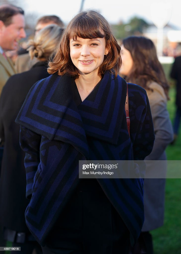 Carey Mulligan attends the Hennessy Gold Cup race meeting at Newbury Racecourse on November 29 2014 in Newbury England