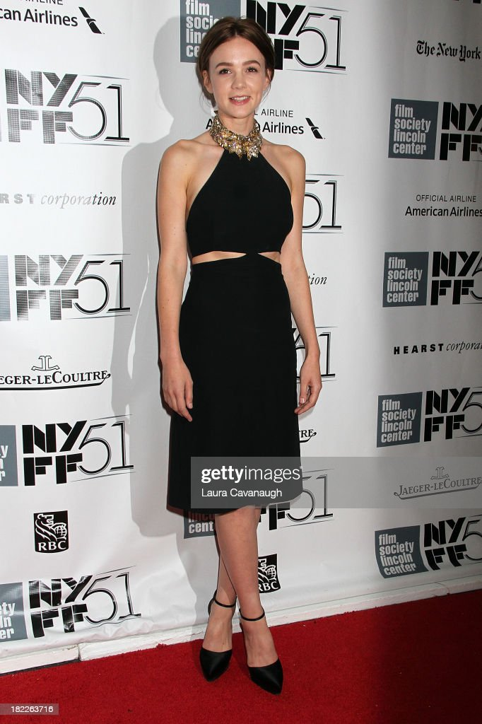 <a gi-track='captionPersonalityLinkClicked' href=/galleries/search?phrase=Carey+Mulligan&family=editorial&specificpeople=2262681 ng-click='$event.stopPropagation()'>Carey Mulligan</a> attends the 'Inside Lleywn Davis' permiere during the 51st New York Film Festival at Alice Tully Hall at Lincoln Center on September 28, 2013 in New York City.