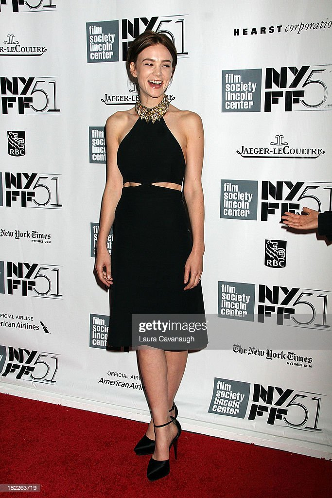 Carey Mulligan attends the 'Inside Lleywn Davis' permiere during the 51st New York Film Festival at Alice Tully Hall at Lincoln Center on September 28, 2013 in New York City.