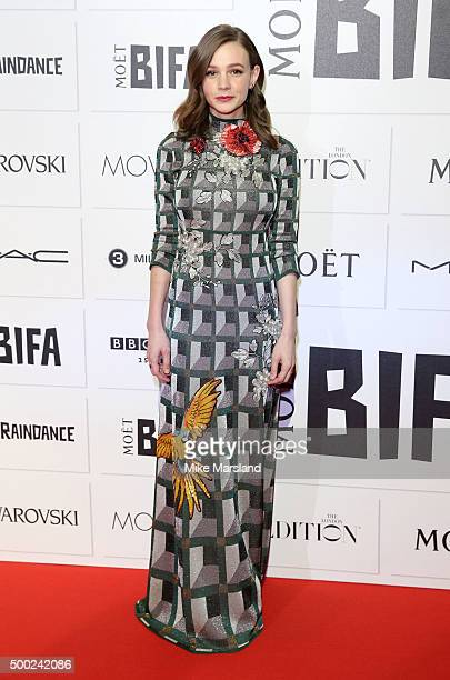 Carey Mulligan attends the Moet British Independent Film Awards at Old Billingsgate Market on December 6 2015 in London England