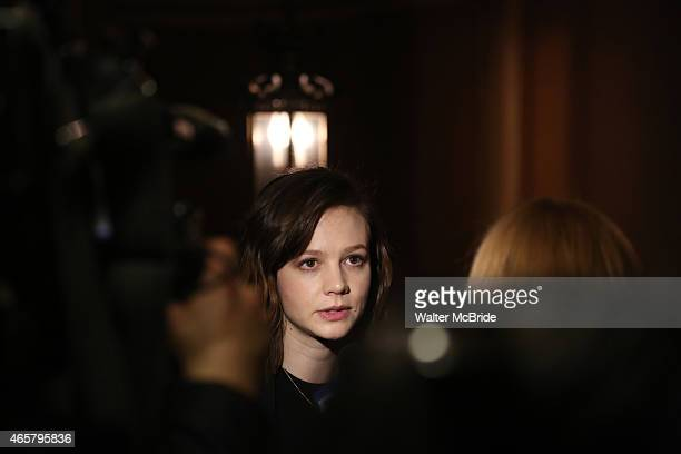 Carey Mulligan attends the photo call for the Broadway production of 'Skylight' at the Golden Theatre on March 10 2015 in New York City