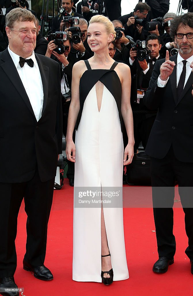 Carey Mulligan attends the Premiere of 'Inside Llewyn Davis' at The 66th Annual Cannes Film Festival on May 19, 2013 in Cannes, France.