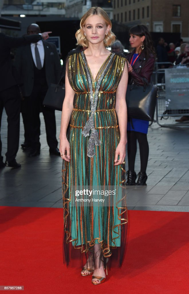 Carey Mulligan attends the Royal Bank of Canada Gala & European Premiere of 'Mudbound' during the 61st BFI London Film Festival on October 5, 2017 in London, England.