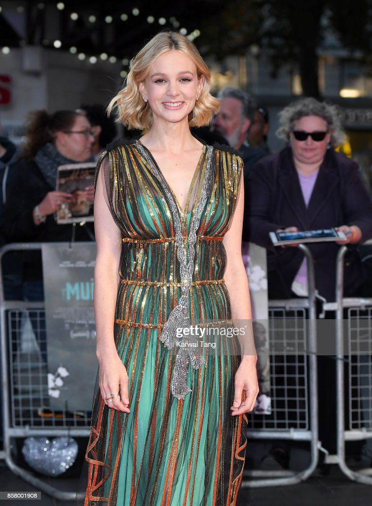Carey Mulligan attends the Royal Bank of Canada Gala & European Premiere of 'Mudbound' during the 61st BFI London Film Festival at the Odeon Leicester Square on October 5, 2017 in London, England.
