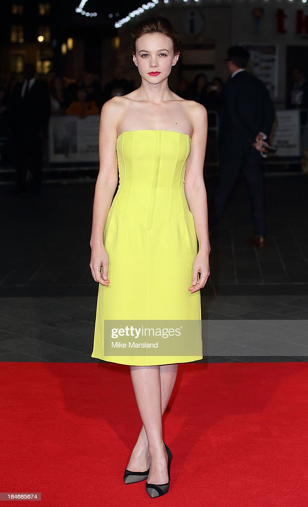 Carey Mulligan attends the screening of 'Inside Llewyn Davis' Centrepiece Gala Supported By The Mayor Of London during the 57th BFI London Film Festival at Odeon Leicester Square on October 15, 2013 in London, England.