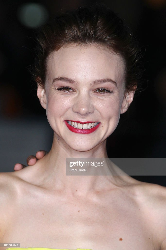 <a gi-track='captionPersonalityLinkClicked' href=/galleries/search?phrase=Carey+Mulligan&family=editorial&specificpeople=2262681 ng-click='$event.stopPropagation()'>Carey Mulligan</a> attends the screening of 'Inside Llewyn Davis' Centrepiece Gala supported by the mayor of London during the 57th BFI London Film Festival at Odeon Leicester Square on October 15, 2013 in London, England.