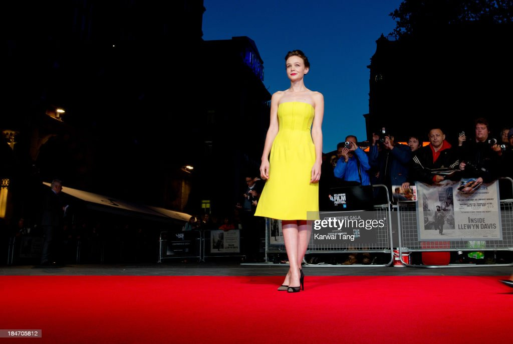 Carey Mulligan attends the screening of 'Inside Llewyn Davis' Centrepiece Gala supported by the mayor of London during the 57th BFI London Film Festival at the Odeon Leicester Square on October 15, 2013 in London, England.