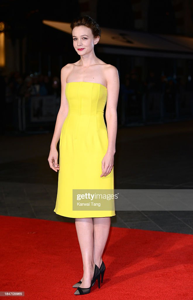 <a gi-track='captionPersonalityLinkClicked' href=/galleries/search?phrase=Carey+Mulligan&family=editorial&specificpeople=2262681 ng-click='$event.stopPropagation()'>Carey Mulligan</a> attends the screening of 'Inside Llewyn Davis' Centrepiece Gala supported by the mayor of London during the 57th BFI London Film Festival at the Odeon Leicester Square on October 15, 2013 in London, England.