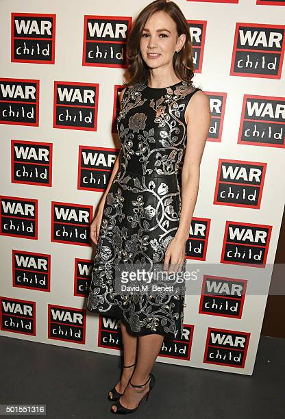 Carey Mulligan attends The War Child Winter Wassail curated by Carey Mulligan and Marcus Mumford at One Mayfair on December 15 2015 in London England