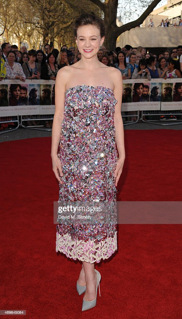 Carey Mulligan attends the World Premiere of 'Far From The Madding Crowd' at BFI Southbank on April 15 2015 in London England