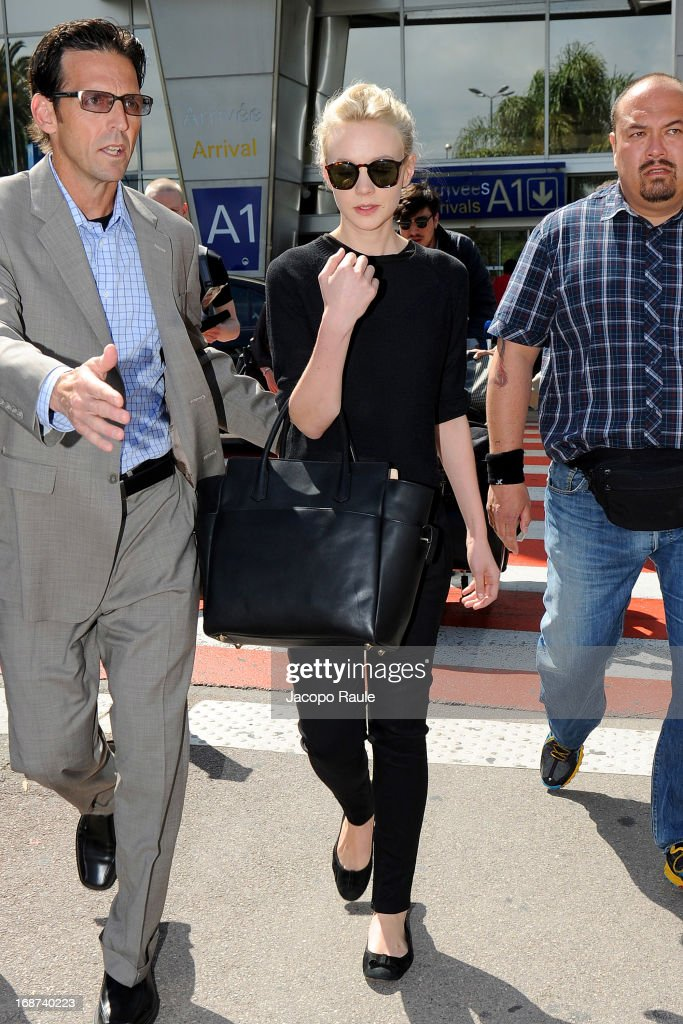 Carey Mulligan is seen arriving at Nice airport on May 14, 2013 in Nice, France.