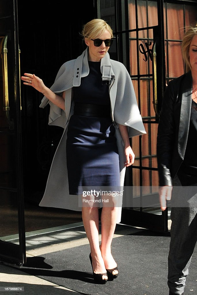 Carey Mulligan is seen in the East Village on May 3, 2013 in New York City.