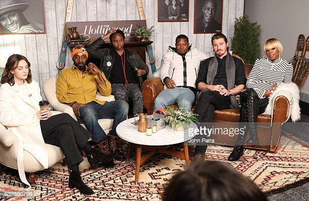 Carey Mulligan Rob Morgan Dee Rees Jason Mitchell Garrett Hedlund and Mary J Blige from the film 'Mudbound' attend the The Hollywood Reporter 2017...