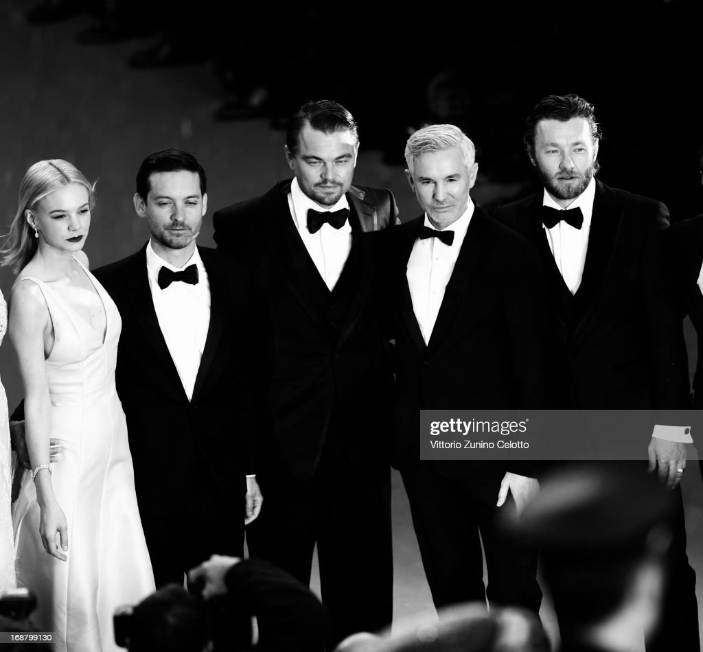 Carey Mulligan, Tobey Maguire, Leonardo DiCaprio, Baz Luhrmann, and Joel Edgerton, Craig Pearce and Catherine Martin attend the Opening Ceremony and 'The Great Gatsby' Premiere during the 66th Annual Cannes Film Festival at the Theatre Lumiere on May 15, 2013 in Cannes, France.