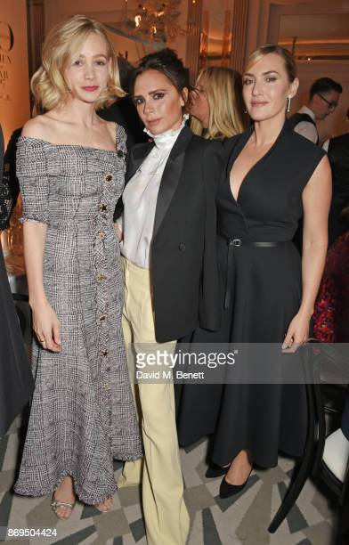 Carey Mulligan Victoria Beckham and Kate Winslet attend Harper's Bazaar Women of the Year Awards in association with Ralph Russo Audemars Piguet and...