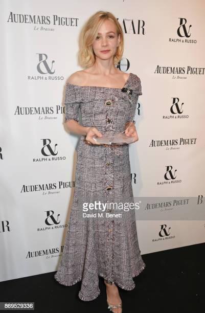 Carey Mulligan winner of the Philanthropist Award attends Harper's Bazaar Women of the Year Awards in association with Ralph Russo Audemars Piguet...