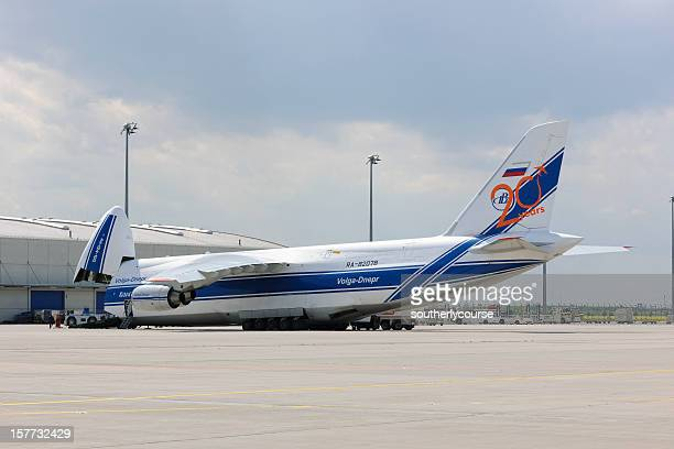 Cargo-Flugzeuge auf die Auffahrt der Leizig/Halle Airport