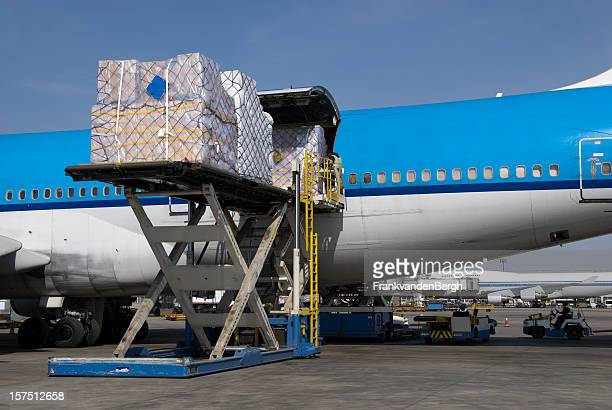 Cargo freight loaded into an aircraft