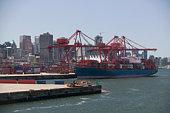 Cargo ship in Vancouver Harbour, British Columbia