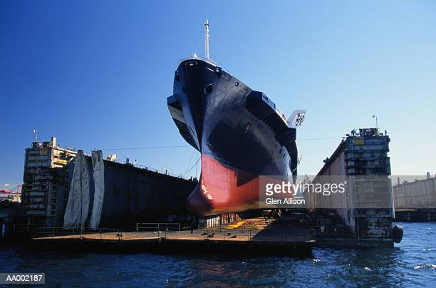 Cargo Ship on Dry Dock
