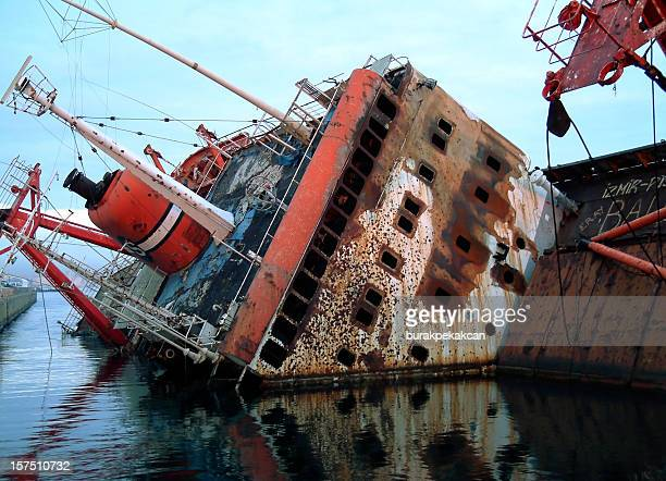 Cargo Ship Sinking, Istanbul, Turkey
