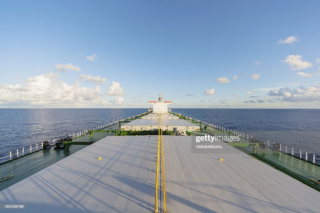 Cargo ship underway : Stock Photo