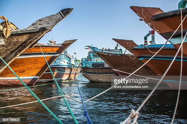 Cargo Ships on Dubai Creek