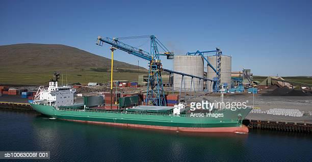 Cargo Vessel Unloading Aluminium to Processing Plant