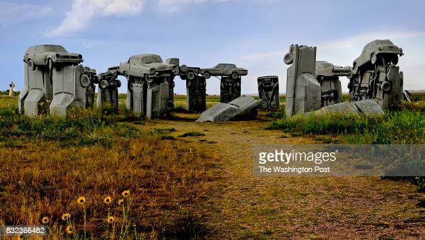 Carhenge is a car sculpture built to resemble the famed Stonehenge in England It was put up in 1987 and draws auto enthusiasts from all over the...