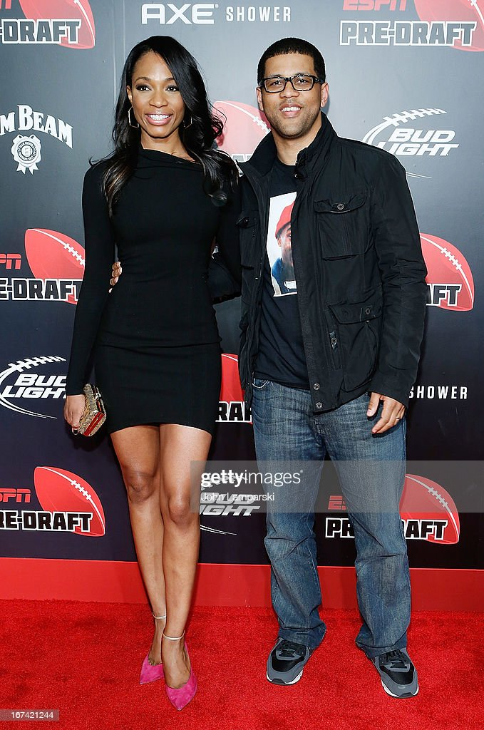Cari Champion and David Wilson attend the 10th Annual ESPN The Magazine Pre-Draft Party at The IAC Building on April 24, 2013 in New York City.