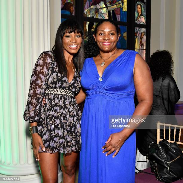 Cari Champion and Kym Hampton attend the Women's Sports Foundation 45th Anniversary of Title IX celebration at the NewYork Historical Society on June...