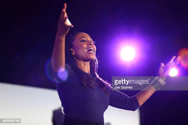 Cari Champion speaks onstage at the 8th Annual espnW Women Sports Summit at Resort at Pelican Hill on October 2 2017 in Newport Beach California