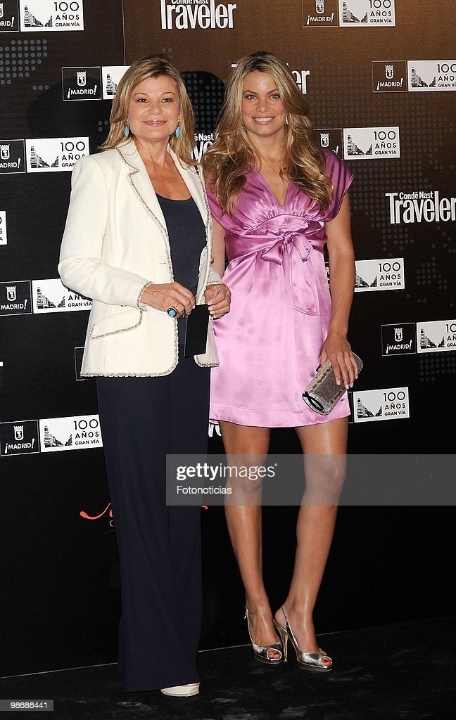 Cari Lapique and her daughter Carla Goyanes attend 'Conde Nast Traveler 2010' awards ceremony held at the Jardines de Cecilio Rodriguez on April 26...