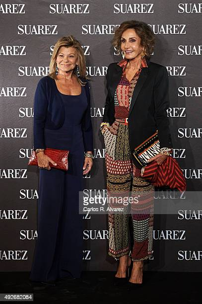 Cari Lapique and Nati Abascal attend the new Suarez Jewelry Boutique on October 14 2015 in Madrid Spain