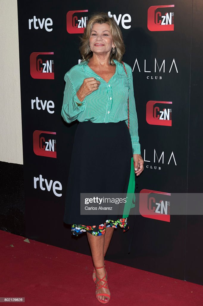 Cari Lapique attends 'Corazon' TV programme 20th Anniversary at the Alma club on June 27, 2017 in Madrid, Spain.