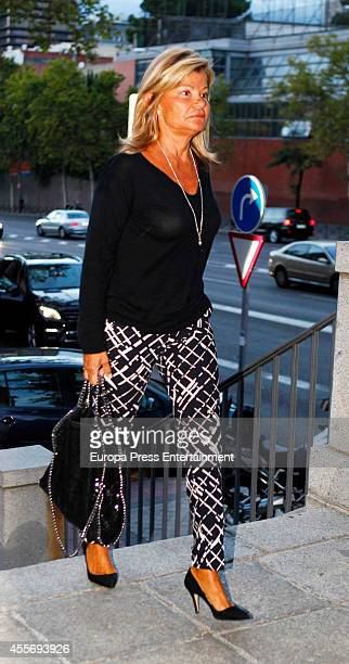 Cari Lapique attends the funeral for Crista of Bavaria who died last July in Madrid at San Agustin Church on September 17 2014 in Madrid Spain