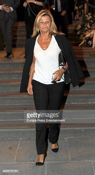 Cari Lapique attends the funeral for Isidoro Alvarez president of El Corte Ingles who died at 79 aged on September 15 2014 in Madrid Spain