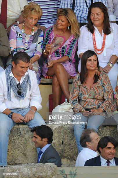 Cari Lapique attends the 'Goyesca' Bullfights on September 3 2011 in Ronda Spain The bullfight events linked to The Feria Goyesca stem from the...