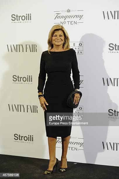 Cari Lapique attends the 'Hubert de Givenchy' exhibition opening cocktail on October 20 2014 in Madrid Spain
